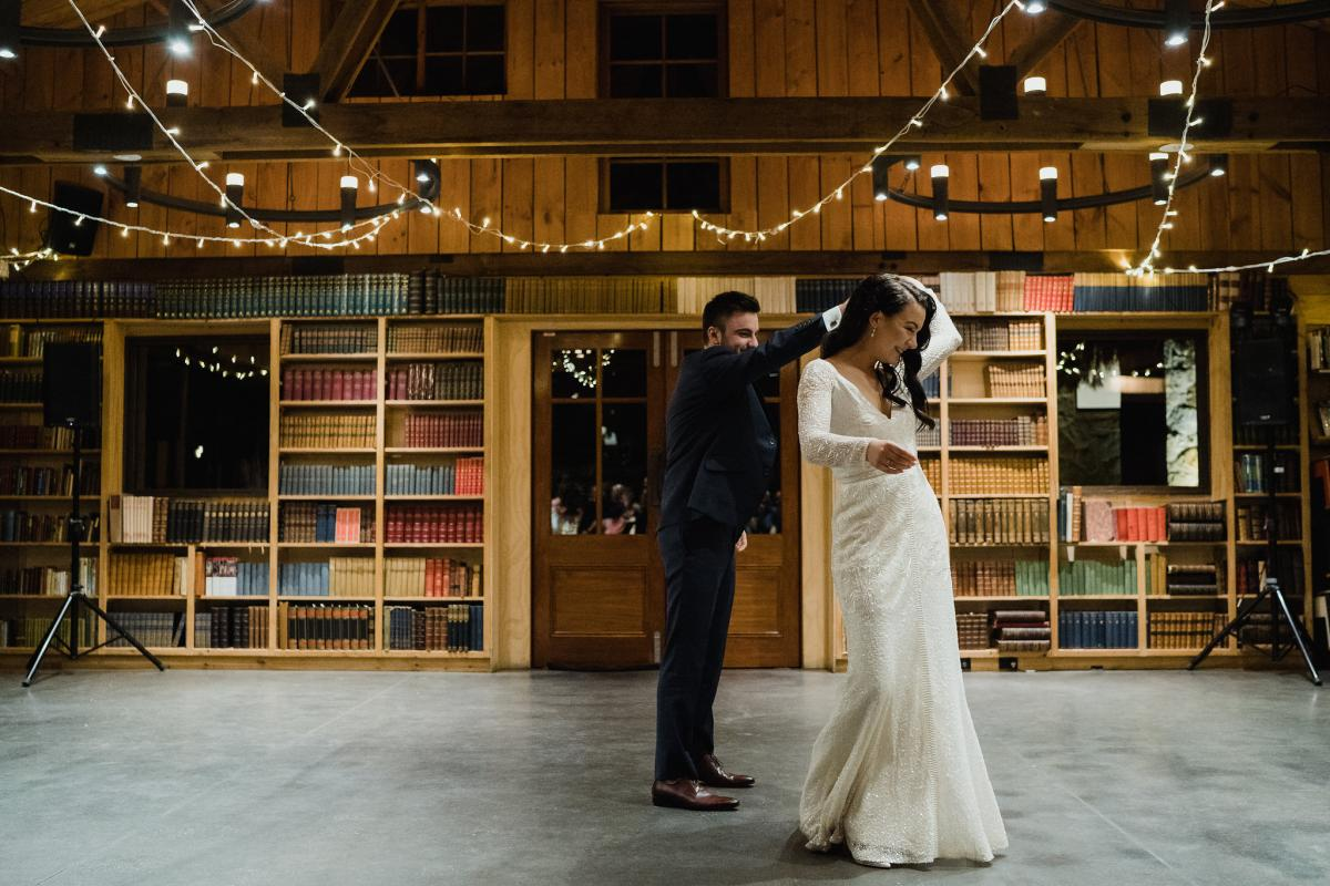 Erin & Tim's Moody Library Wedding