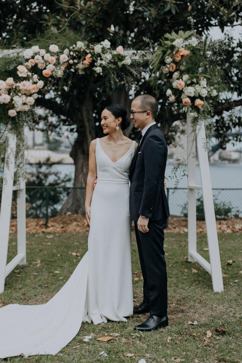 Read all about our real bride's wedding in this blog. She wore the WILD HEARTS Aubrey gown by Karen Willis Holmes.