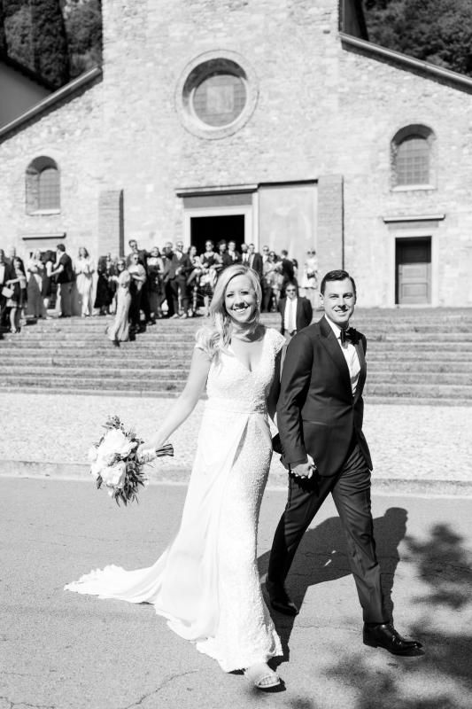 Real bride Kate wore the Luxe Caitlyn wedding dress by Karen Willis Holmes.