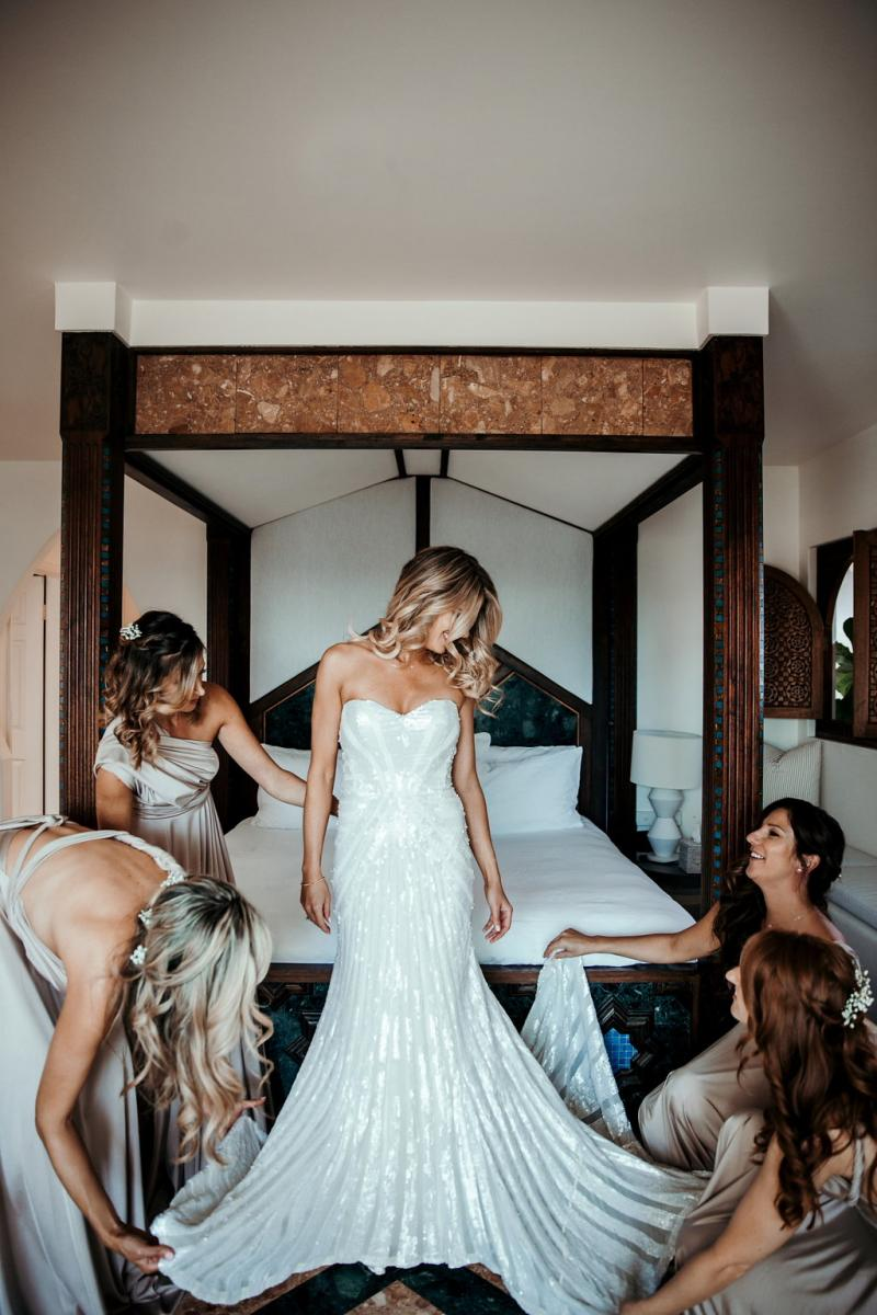 Read all about our real bride's wedding in this blog. She wore the LUXE Layla wedding dress by Karen Willis Holmes.