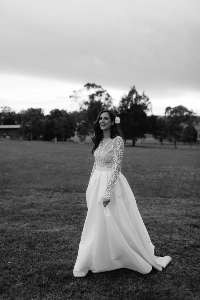 Read all about our real bride's wedding in this blog. She wore the BESPOKE Pascale/Melanie gown by Karen Willis Holmes.
