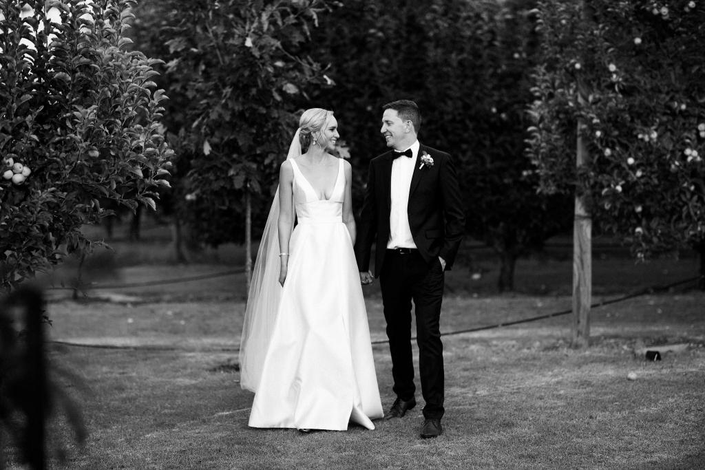 Read all about our real bride's wedding in this blog. She wore the BESPOKE Taryn/Camille gown by Karen Willis Holmes.