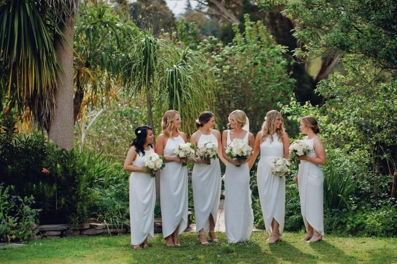 Real bride Meaghan wore the Wild Hearts Valencia wedding dress by Karen Willis Holmes.