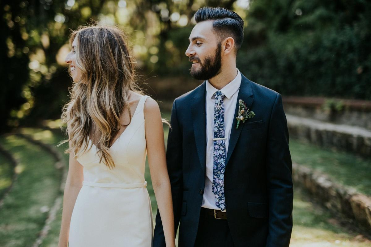 Kendra & Scott's Sunken Gardens Perth Wedding