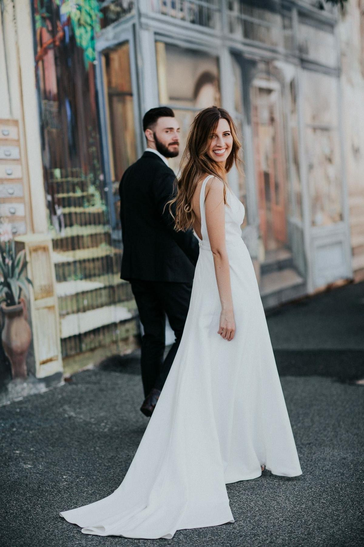 Read all about our real bride's wedding in this blog. She wore the Wild Hearts Aubrey wedding dress by Karen Willis Holmes.