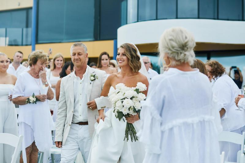 Read all about our real bride's wedding in this blog. She wore the Bespoke Blake/Camille wedding dress by Karen Willis Holmes.