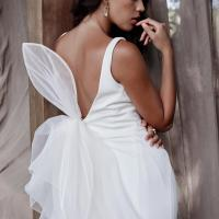 The Isabella bridal train by Karen Willis Holmes, wedding dress overskirt.