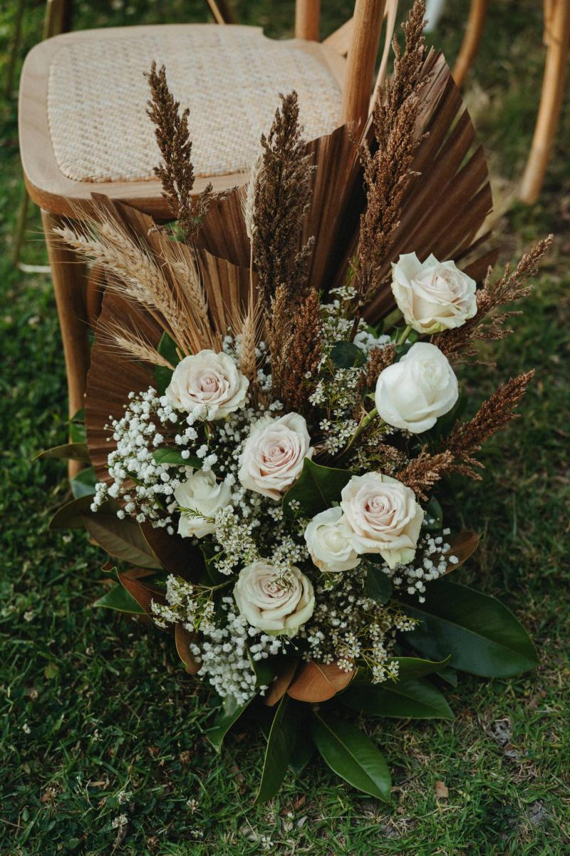 KWH bride Kate's natural bridal bouquet; with an organic palette