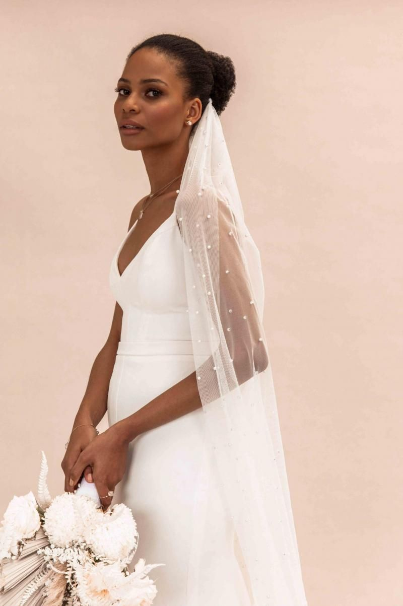 The Caroline gown by Karen Willis Holmes, simple casual wedding dress.