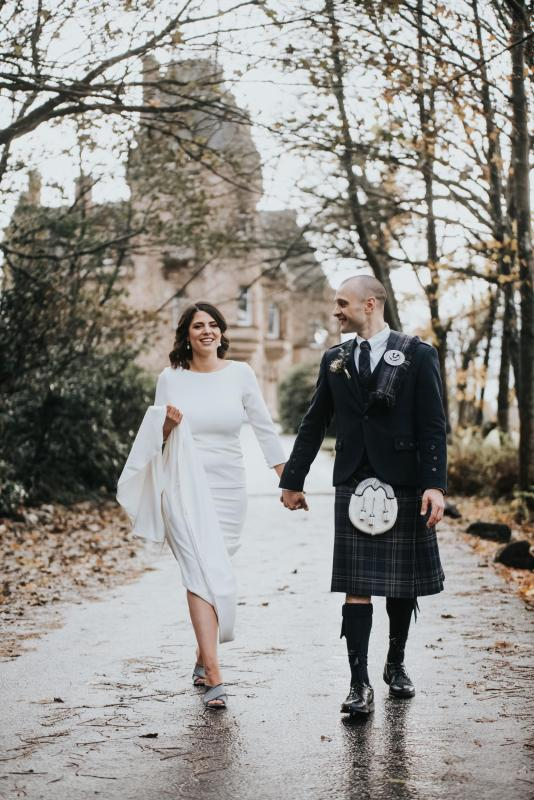 Real bride Amelia wore the Wild Hearts Paris wedding dress by Karen Willis Holmes.