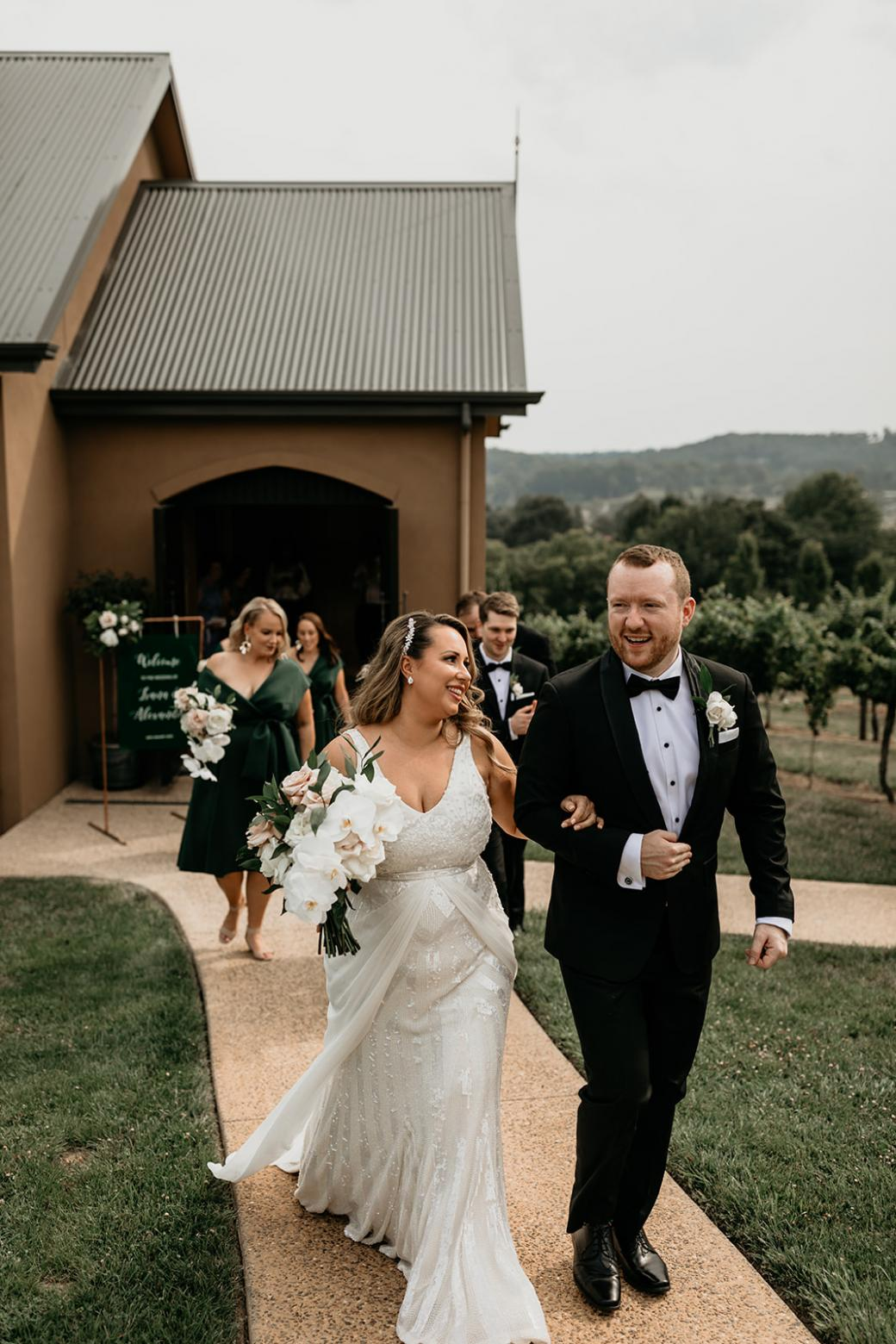Fontanne gown by Karen Willis Holmes on curvy bride