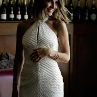 The Chloe gown by Karen Willis Holmes, high neck lace wedding dress