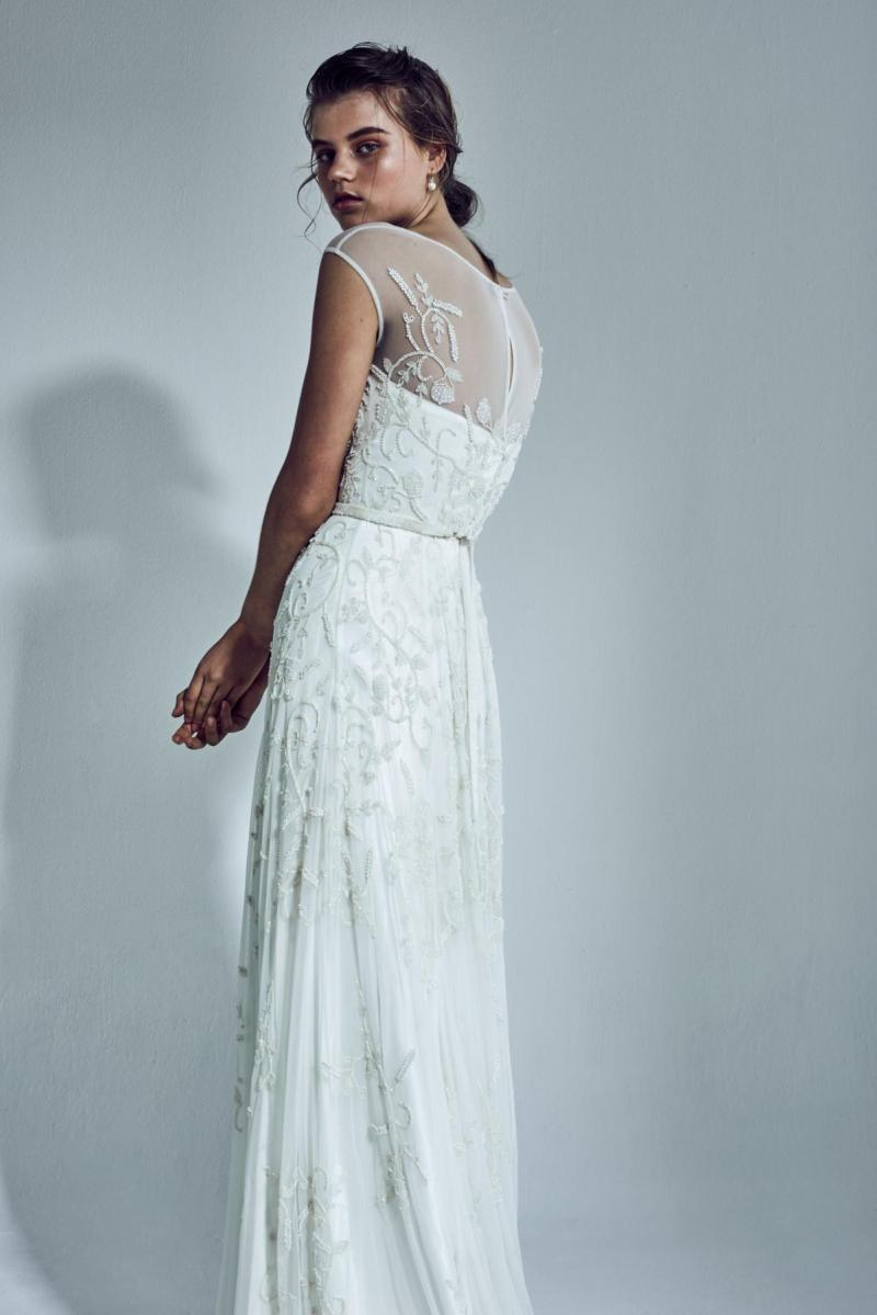 The Ivy gown by Karen Willis Holmes, vintage beaded wedding dress