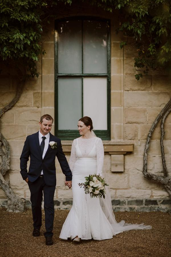 KWH bride Cassie wearing the JEMMA gown;