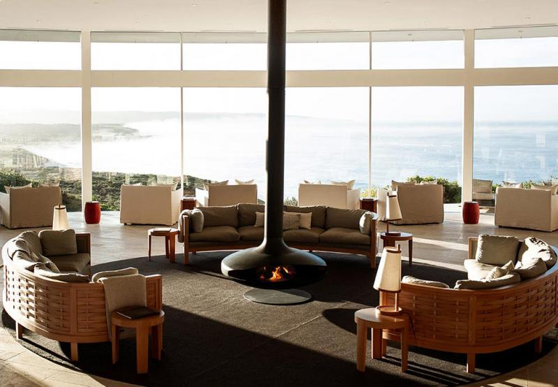 Southern Ocean lodge picture of living room overlooking Kangaroo Island