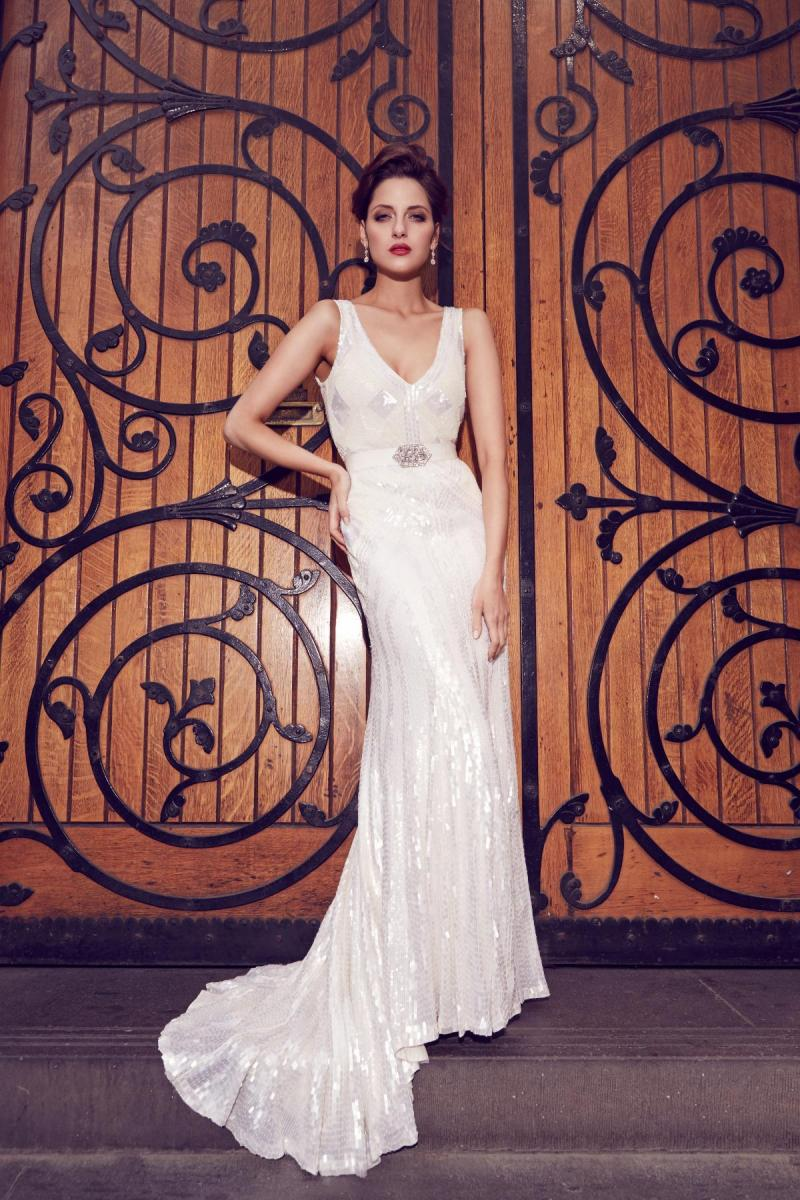 Elvina LUXE beaded wedding dress by Karen Willis Holmes