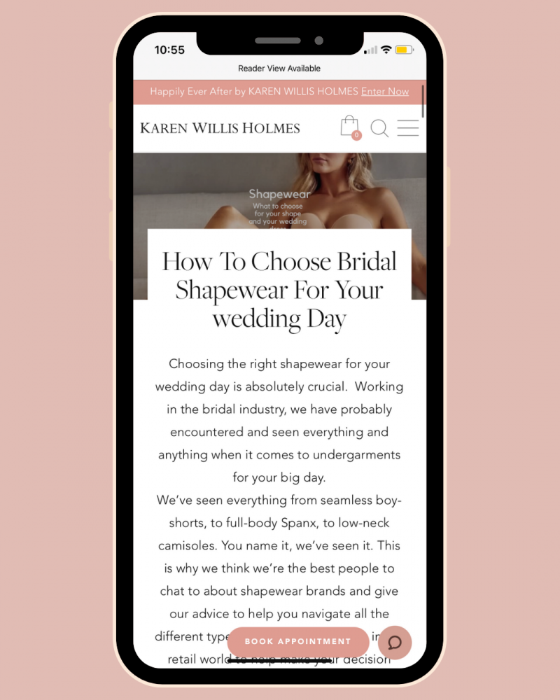 Choosing shape wear for your wedding