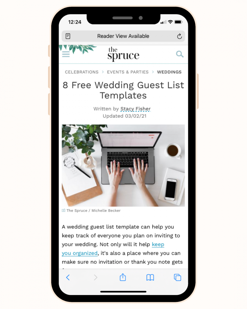 8 wedding guest list templates by The Spruce