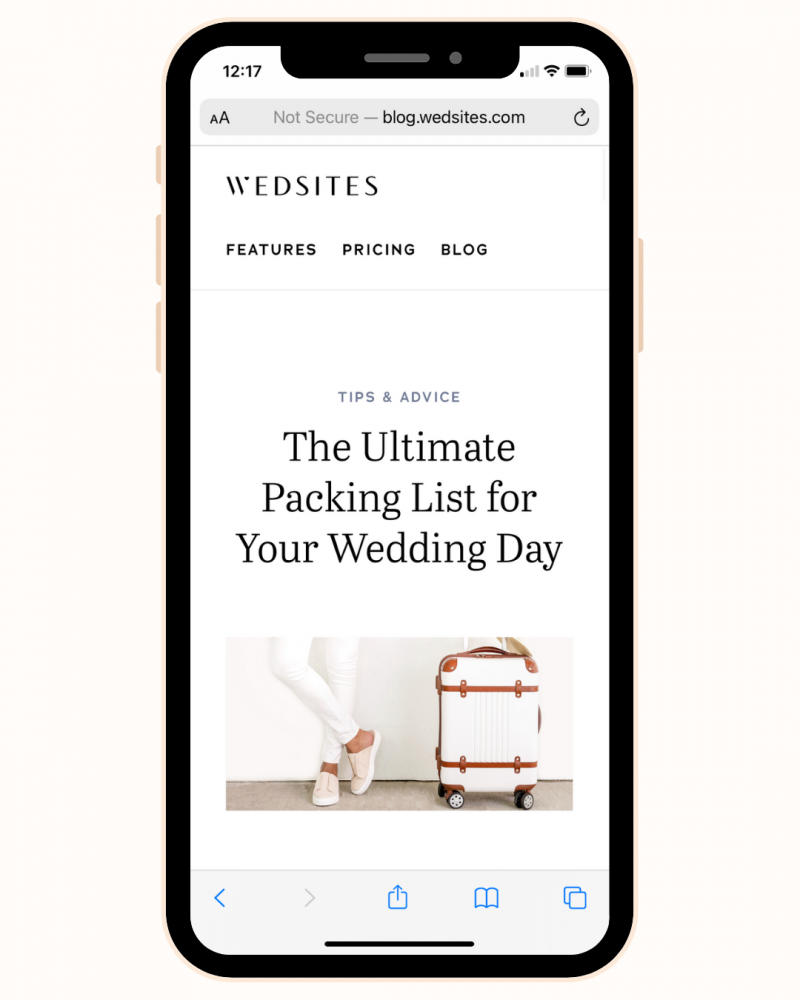 Ultimate packing list for wedding day