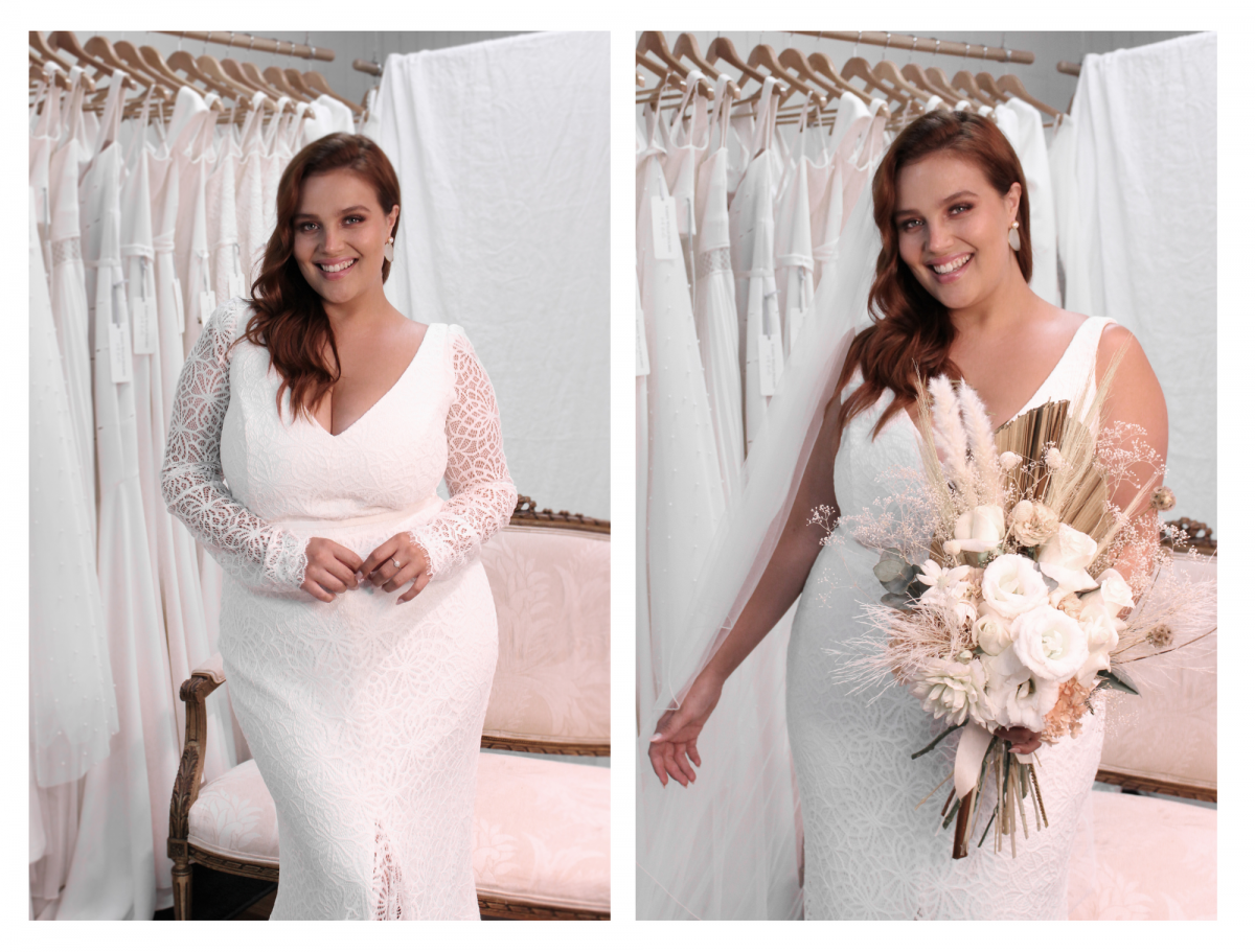 The Rylie CURVE plus size lace gown by Karen Willis Holmes